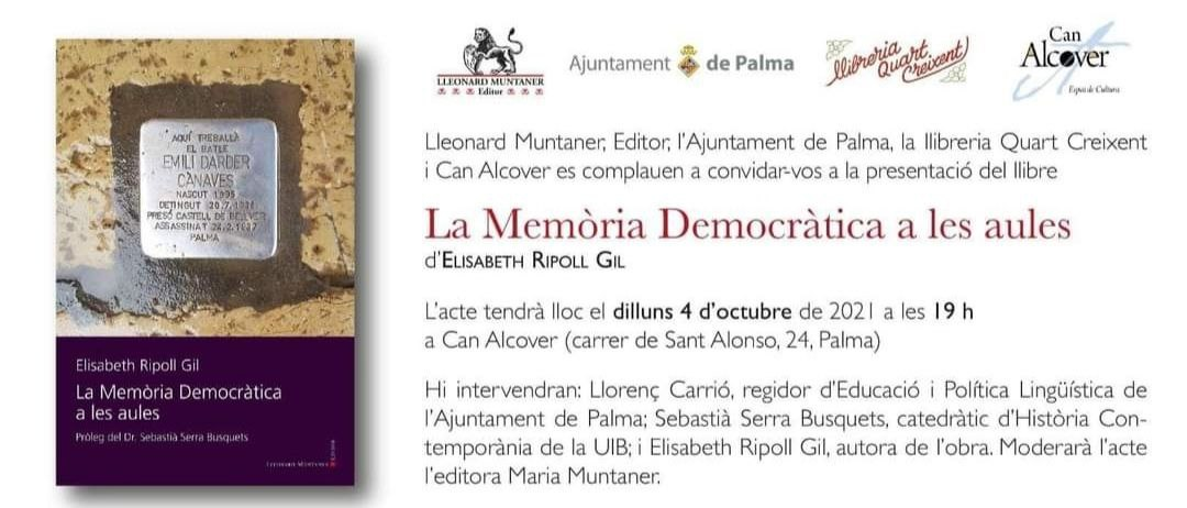 """Presentació de """"La Memòria Democràtica a les aules"""""""